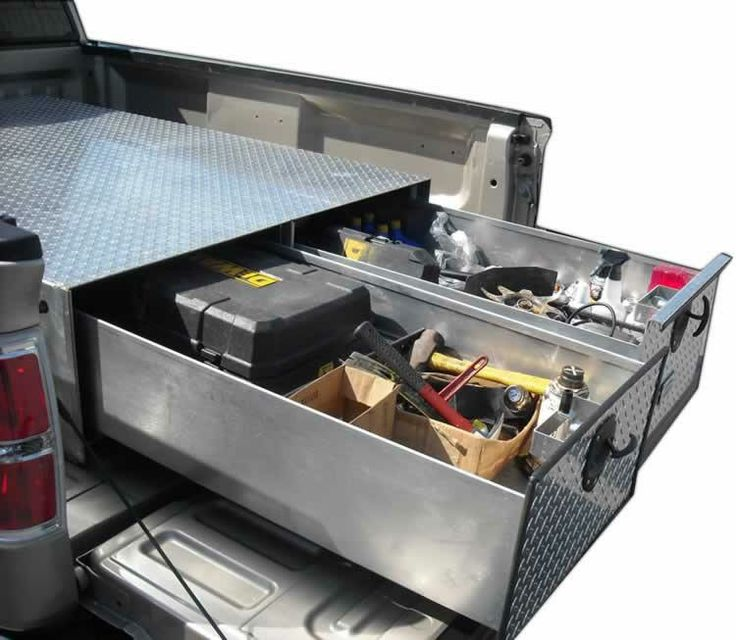 Truck bed storage containers interesting truck bed storage ideas idi design design ideas - Truck bed organizer ideas ...