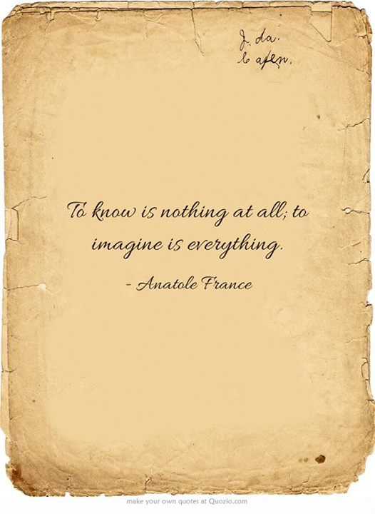 Imagination Is Everything