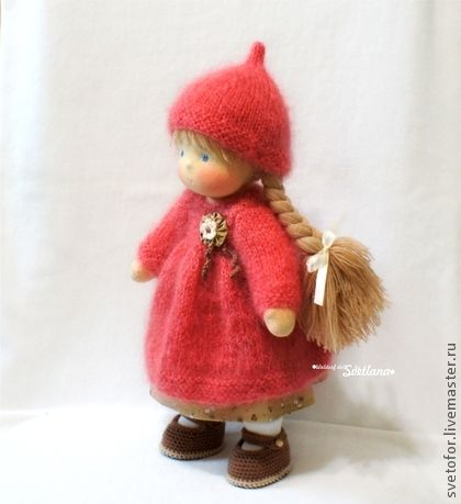 Редисочка, шарнирная, 31 см - вальдорфская кукла,вальдорфская игрушка
