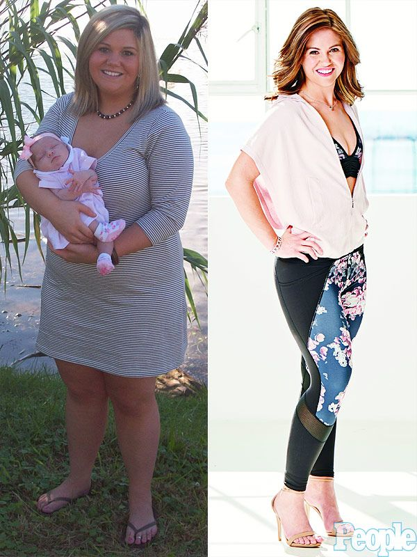 """People Magazine writes: With her military husband deployed for months at a time, Sarah Beasley drowned her sadness in entire cans of chocolate frosting, driving her weight up to 260 lbs. Using the Beachbody program, she lost 120 lbs. and is committed to her daily, 5:30 a.m. workouts. """"It sets my whole day off right,"""" says Beasley, 27."""