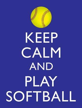 Keep Calm and Play Softball Print Your Own by WildGeeseDigital, $3.00