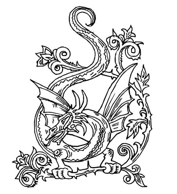 dragon celtic dragon artwork coloring page celtic dragon artwork coloring pagefull size image - Artwork Coloring Pages