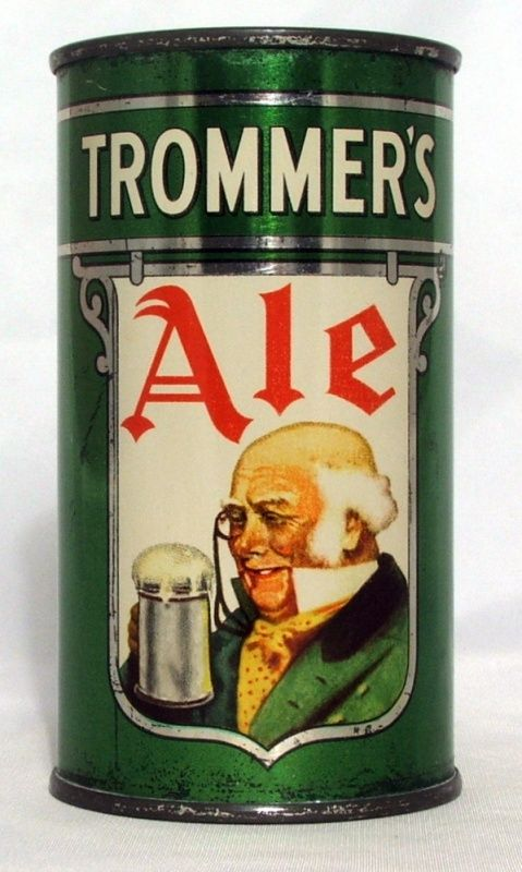 Trommer's Ale ,Rare 1936 can, only three examples were known in on-grade when the book was published in the late ...