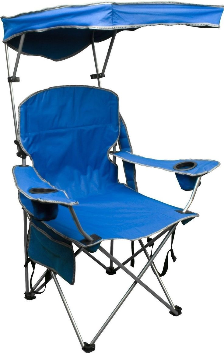 Folding camping chairs with footrest - Bravo Sports Quik Shade Chair 2 6 Blue Pkg Of 1
