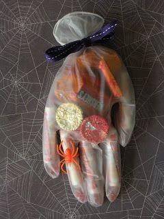 Halloween Hand Treats - COOL idea!