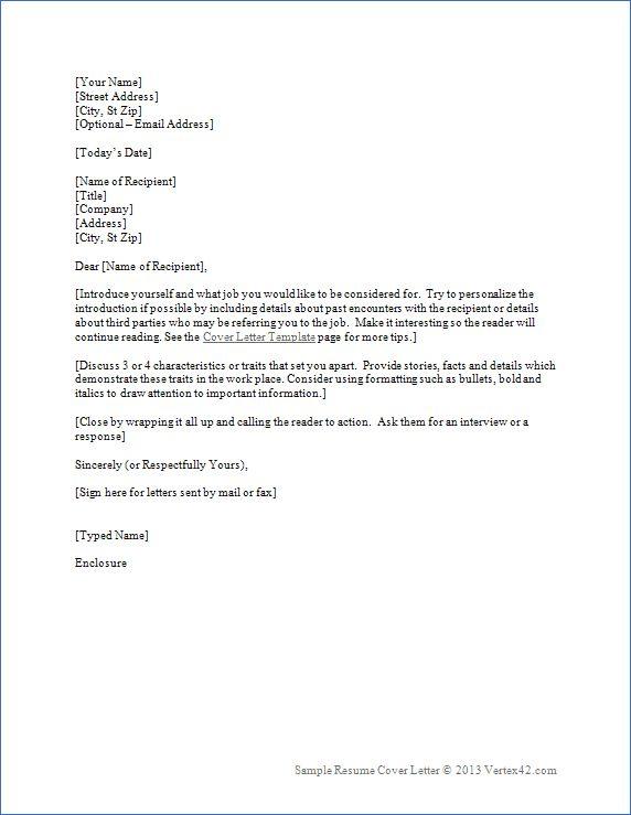 best 25 resume letter example ideas on pinterest resume work - Resume Covering Letter Samples