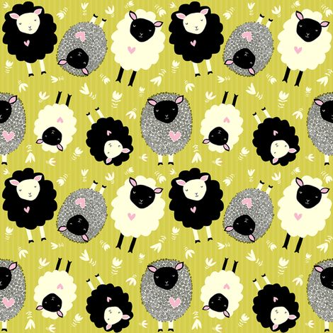 itsy bitsy ditsy sheep  fabric by pattyryboltdesigns on Spoonflower - custom fabric