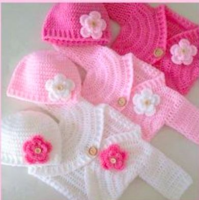 Coat Baby Rose Merges Crochet - Material and How to Make   Coat Female Infant Crochet this lovely coat has a rustic and very current air ...