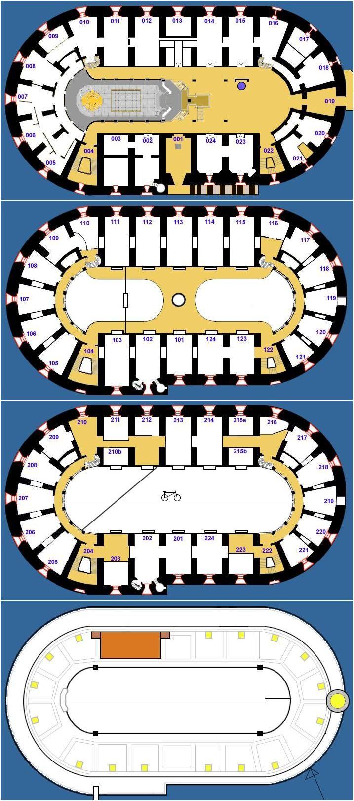 Fort Boyard floor plans