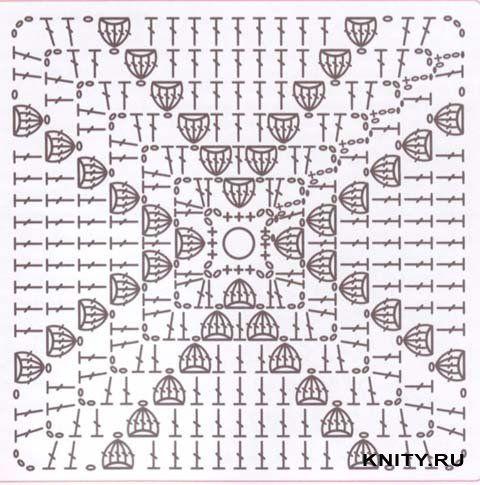 crochelinhasagulhas: négyzetek horgolt