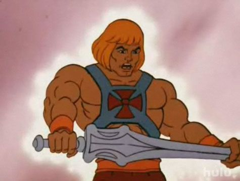 From the 80's:  TV show He-Man