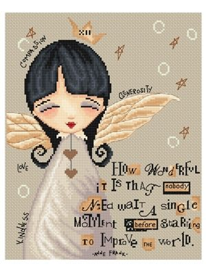 Sweet Thoughts  - Collection of needlework designs inspired by inspirational artwork characters created Diane Duda. www.lenalawsonneedlearts.com