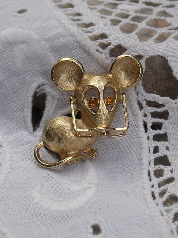 Vintage Avon Mouse Pin with Moveable Glasses ... I still have mine!