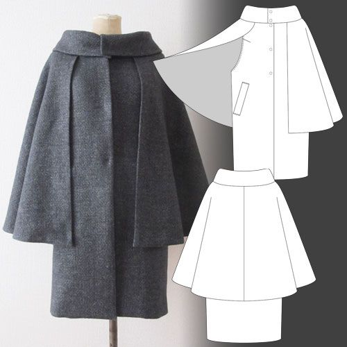 Tamanegi-kobo - Lapis-Lazli / Inverness Cape  This is excellent. No sleeves for bulk or overheating. It's beautiful.