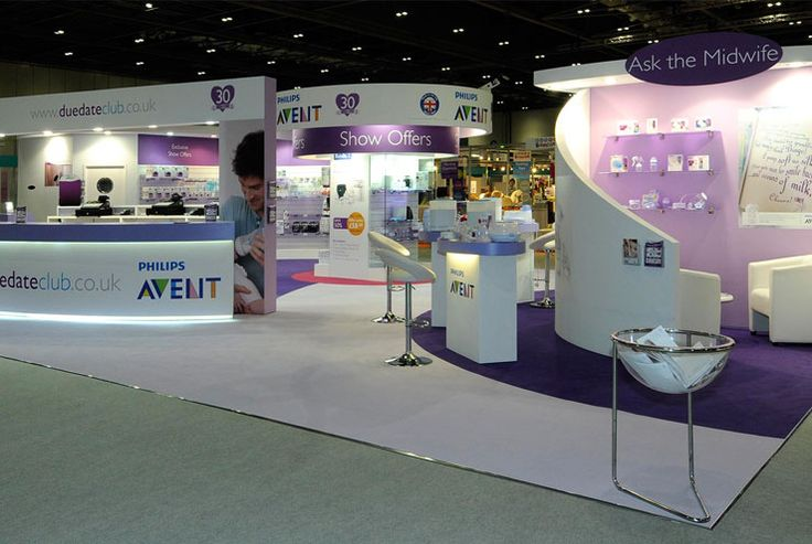 Avent Philips exhibition stand at The Baby Show, Excel, London