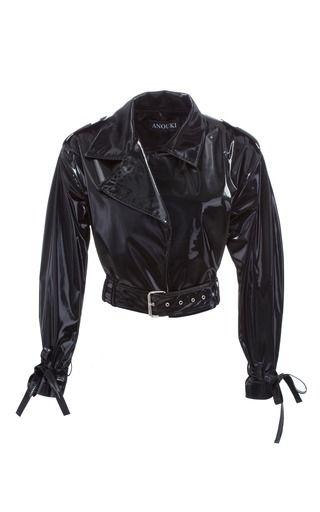 Anouki Cropped Patent Leather Jacket