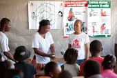 WASH programme; teaching children to wash their hands and avoid cholera