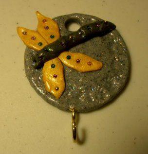polymer dragonfly-key-holder
