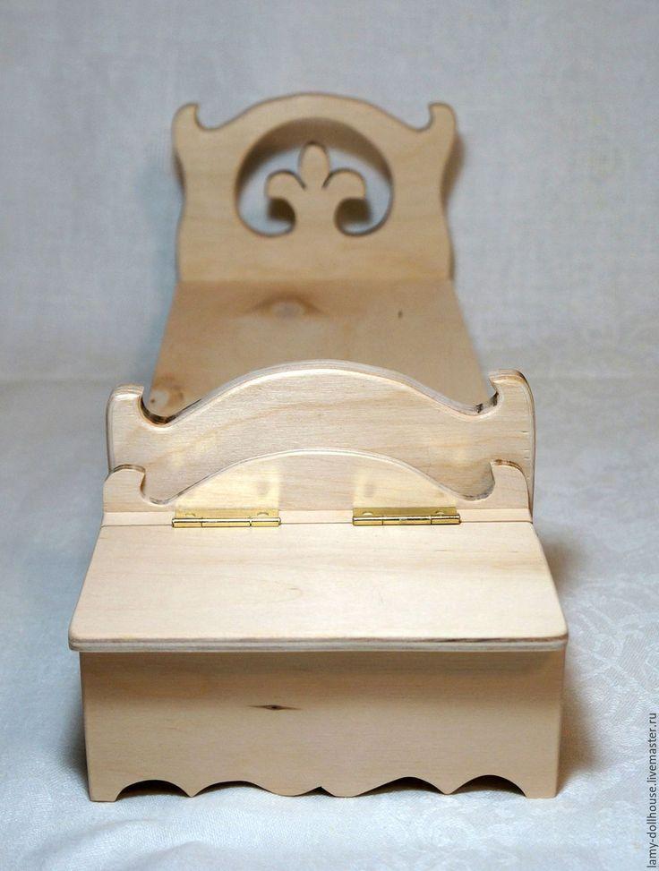 Купить Прикроватная тумба для белья, комод для кукол - комбинированный, мебель для кукол, кукольный дом