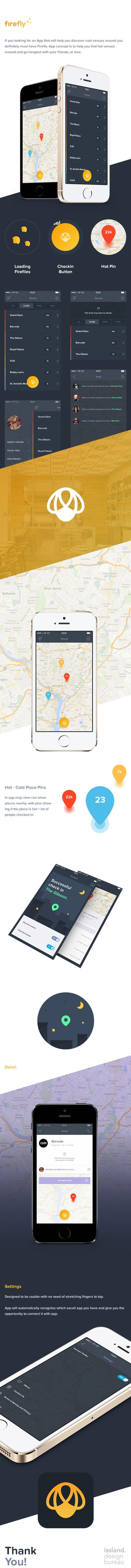 Firefly iOS App by Christine Isslander https://www.behance.net/gallery/Firefly-iOS-App/14801647