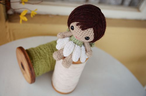 Free pattern for an adorable little garden sprite.