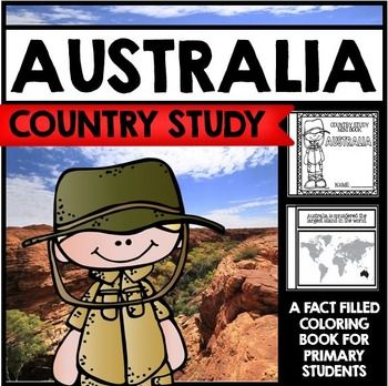 "This 26 Page ""All About Australia"" country study mini booklet project  is perfect your upcoming Australia unit, lesson, multicultural study, cultural fair, or country study. Full of information about Australia, this fun coloring book includes information about Australia written in engaging informational text that is perfect for the lower elementary grades."