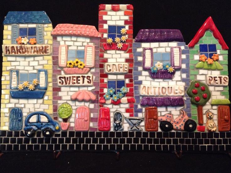 Street scene mosaic