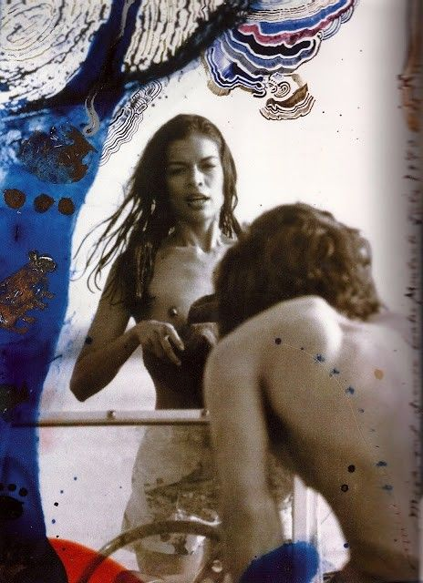 Bianca and Mick by Peter Beard.