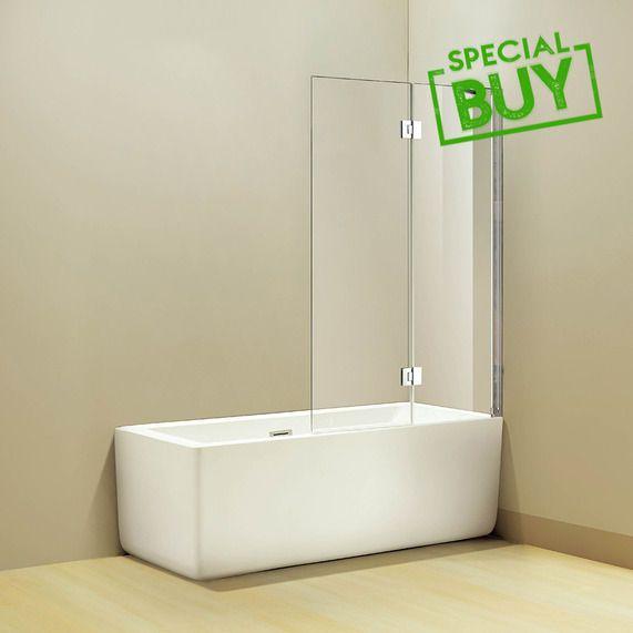 Goss folding 1100x1400mm bath screen | bathstore