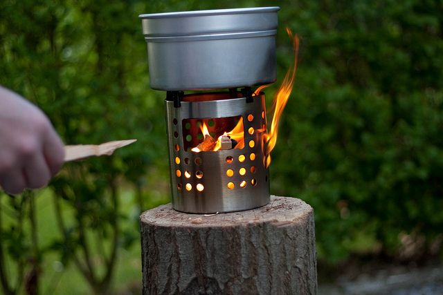 Ikea Hobo Stove Modified Utensil Holder Gear Outdoor