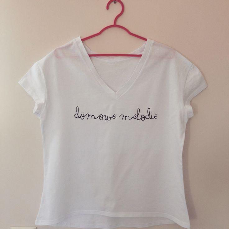 """""""Domowe Melodie"""" koszulka ręcznie malowana"""
