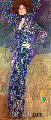 Painting Title: Portrait of Emilie Floge, 1902   Artist: Gustav Klimt (1862-1918)   Fine Art Painting Reproduction by TOPofART.com