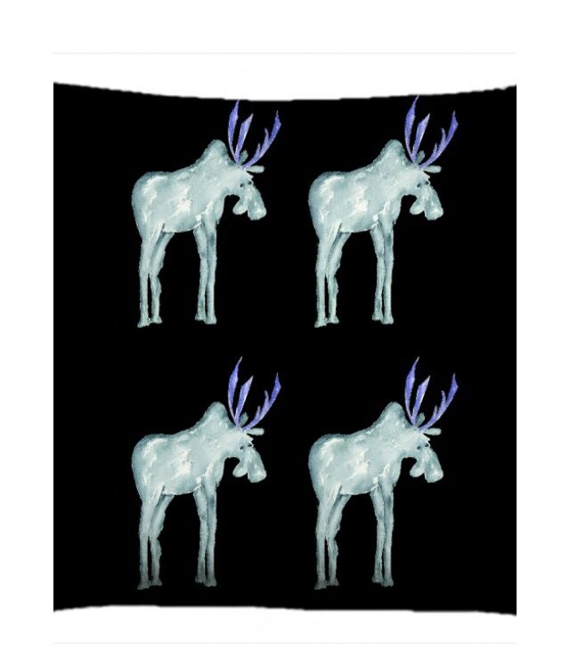 Moose Textile design for cushions