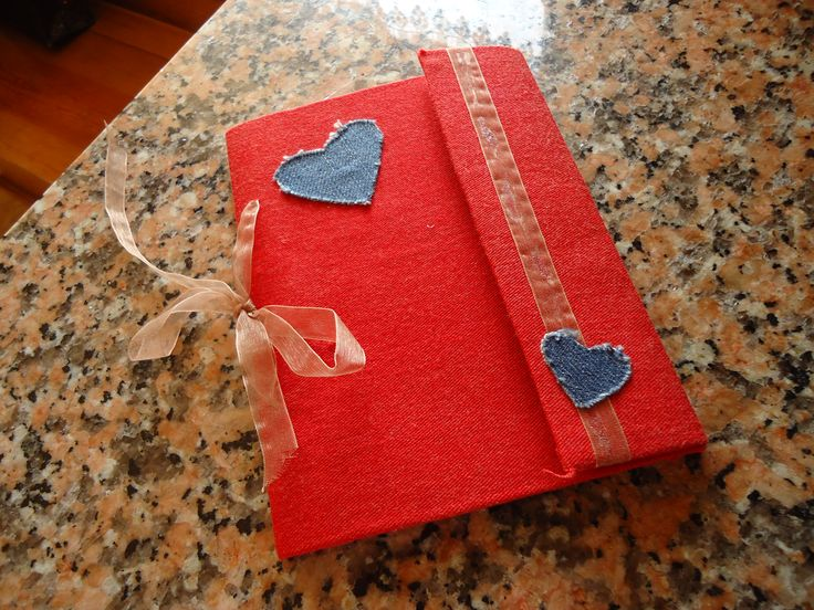 handmade notebook for lovers!  milk carton and old clothes