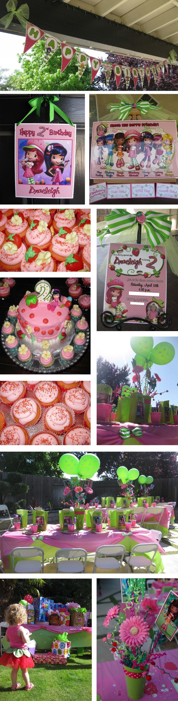 B's 2nd Birthday Party - Strawberry Shortcake :-)