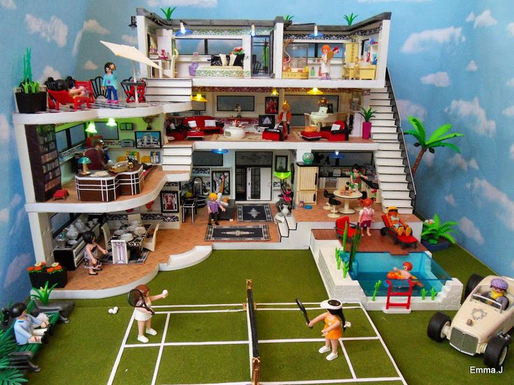 playmobil modern mansion - Google Search