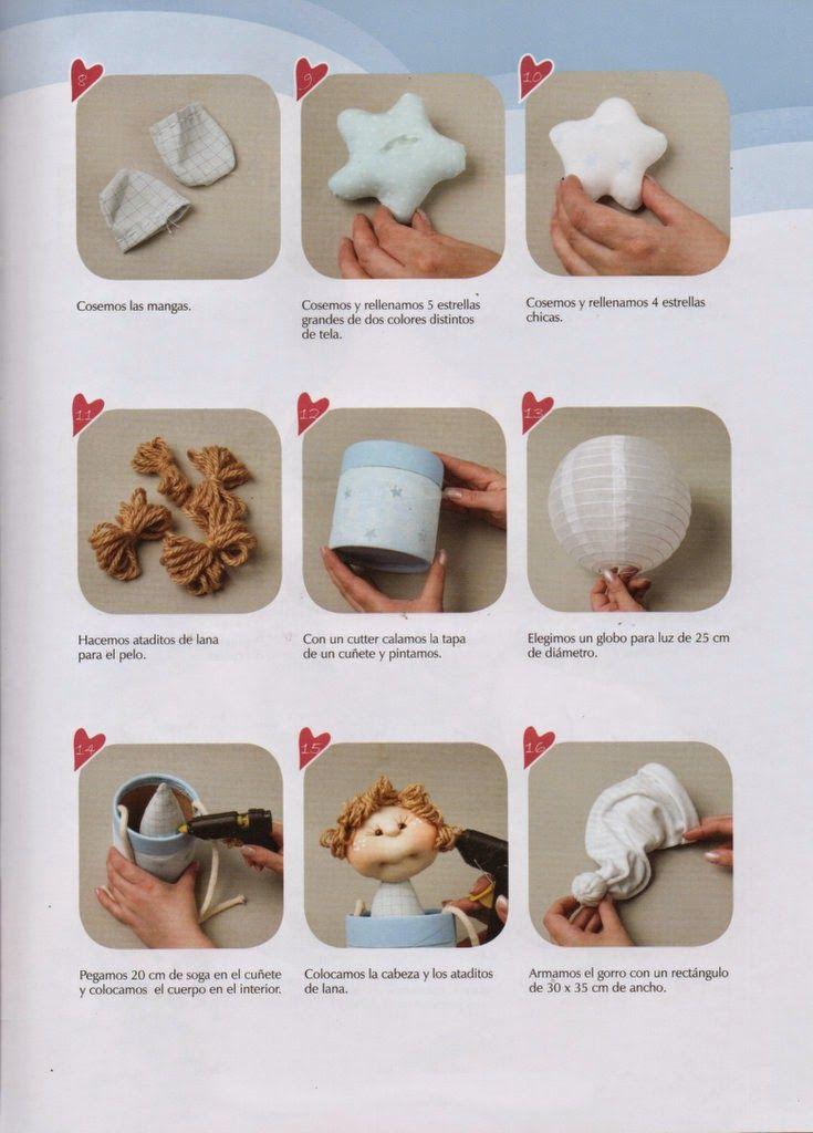 1000 images about munecas de tela on pinterest patrones - Ver como hacer manualidades ...