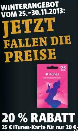 25€ iTunes Karte für 20€ - bei Netto, Penny, Kaisers, Familia Nordwest - myDealZ.de