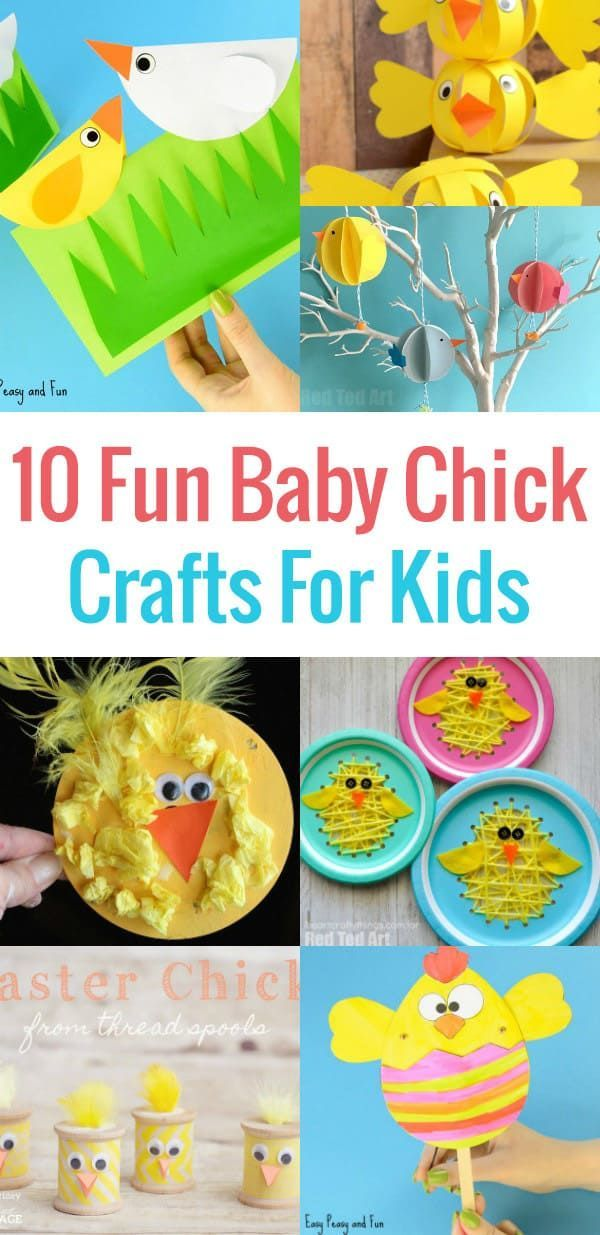 Check out these 10 Fun Baby Chick Crafts For Kids!  These crafts can be easily be made by preschoolers, kindergarten and older kids.  Ideal for homeschooling and the classroom. #eastercraft  #kidscraft