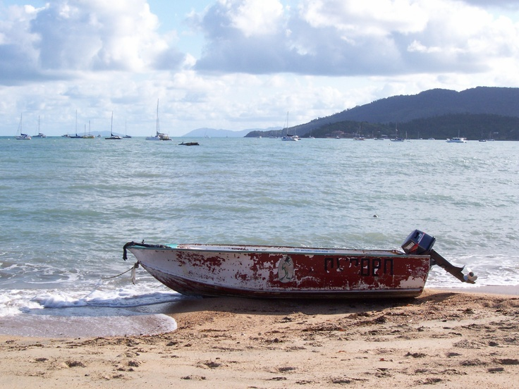 A tried and true boat waiting - Airlie Beach, Queensland