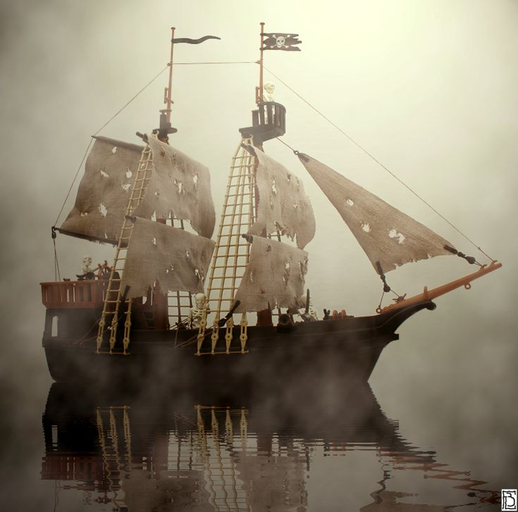 18 best bateau fantome images on pinterest ghost ship - Voile bateau pirate ...