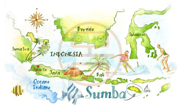 Indonesia map - Cristiano Lissoni