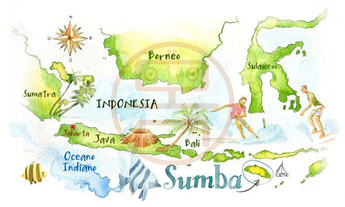 Indonesia map - Cristiano Lissoni