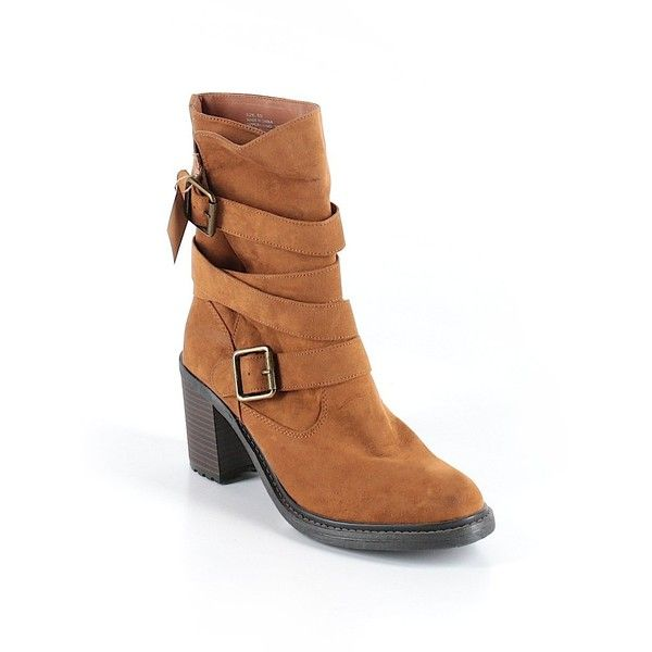 American Eagle Outfitters  Boots ($37) ❤ liked on Polyvore featuring shoes, boots, brown, american eagle outfitters shoes, brown boots, american eagle outfitters, american eagle outfitters boots and brown shoes