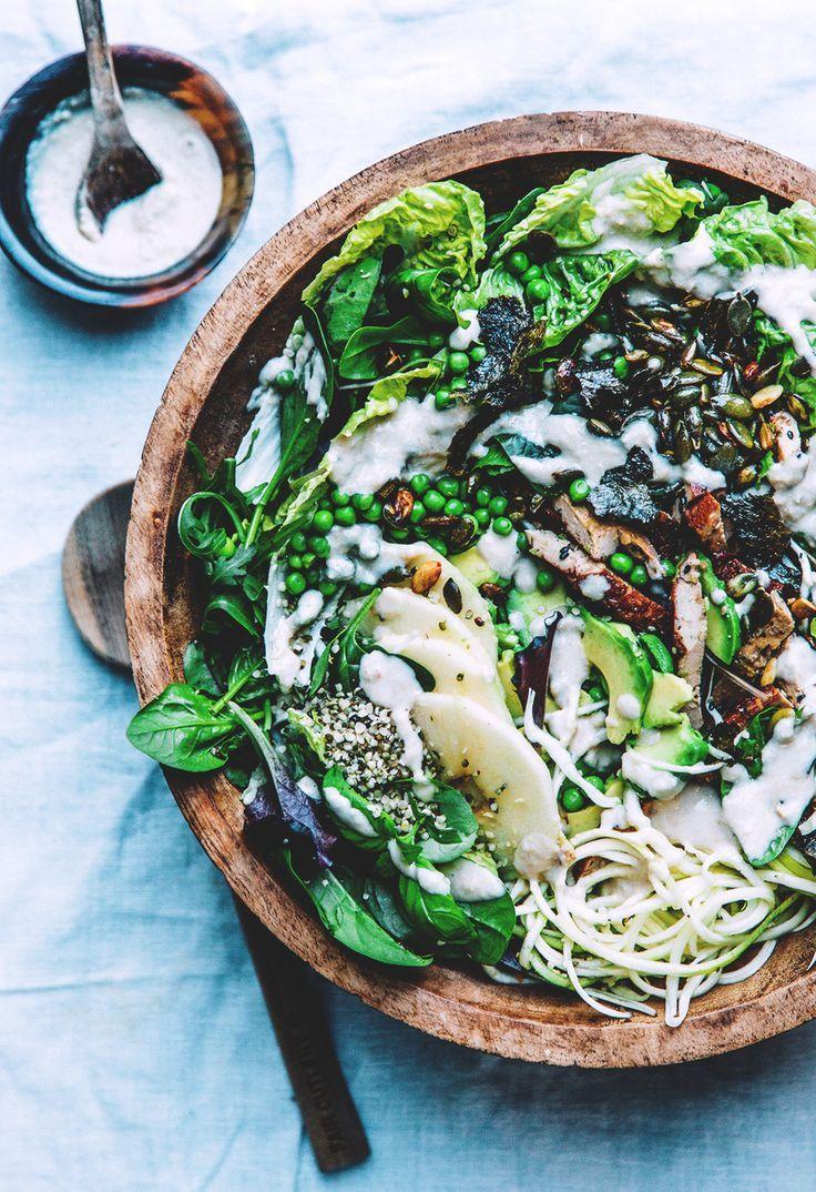 "Smoked tofu & pea salad with cashew horseradish cream - or a vegan ""fish"" salad // Nourish Atelier"