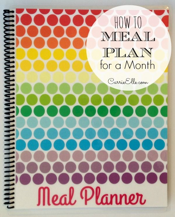 how to meal plan for a month :: carrie elle