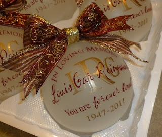 Love this ornament, will be getting some in memory of my Dad for our tree! Cher's Signs by Design