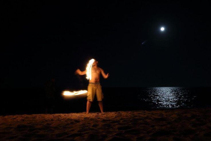 Mays full moon #fire#beach#fullmoon #coastline #calm#ocean#water