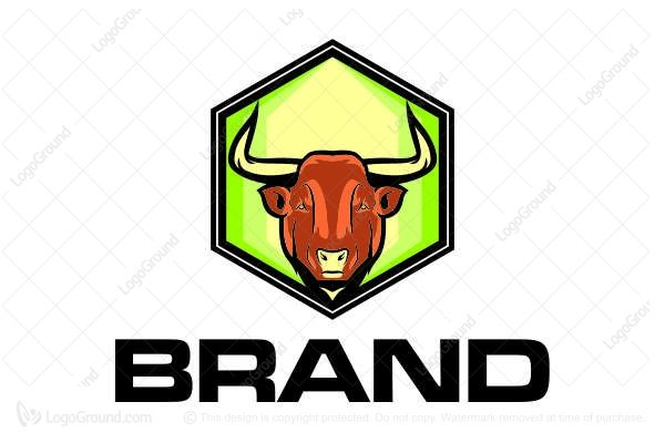 Logo for sale: Bull Head Logo