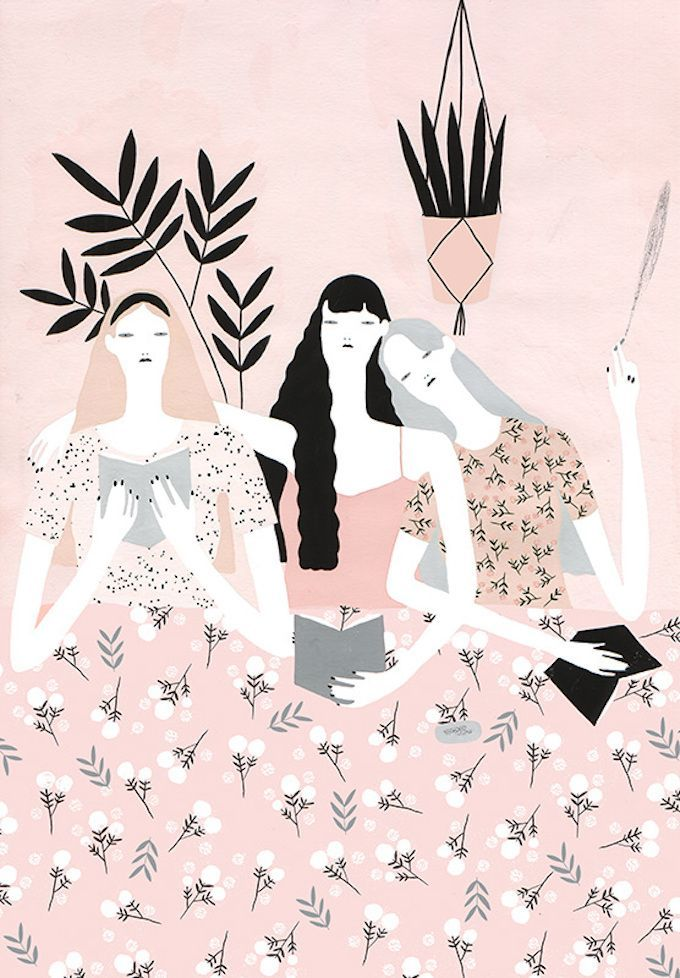 Fashion illustration - Stylish Figurative Illustrations by Alessandra Genualdo